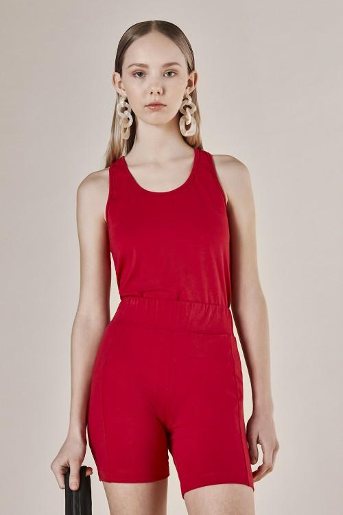 Musculosa Basic Cotton Rojo