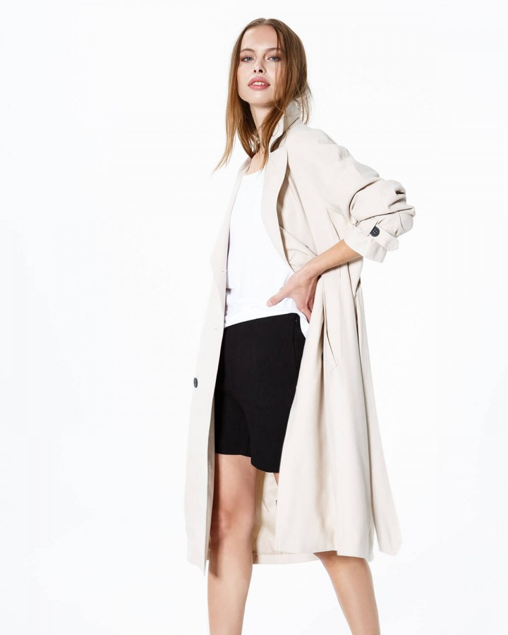 TRENCH TENCEL PIGNETO