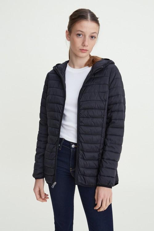 Long Packable Puffer Jacket