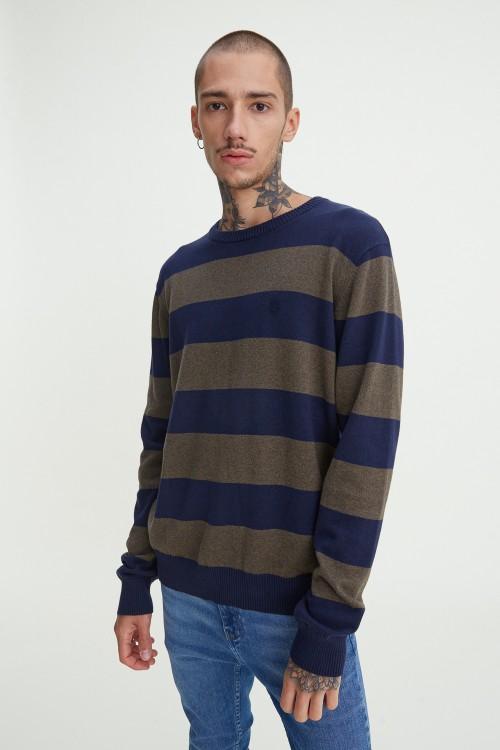 Striped Classic Crewneck Sweater