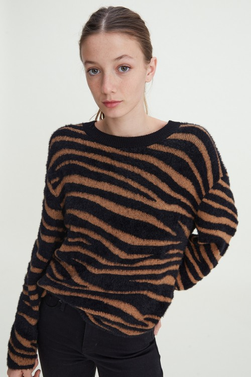 Relaxed Pullover Zebra