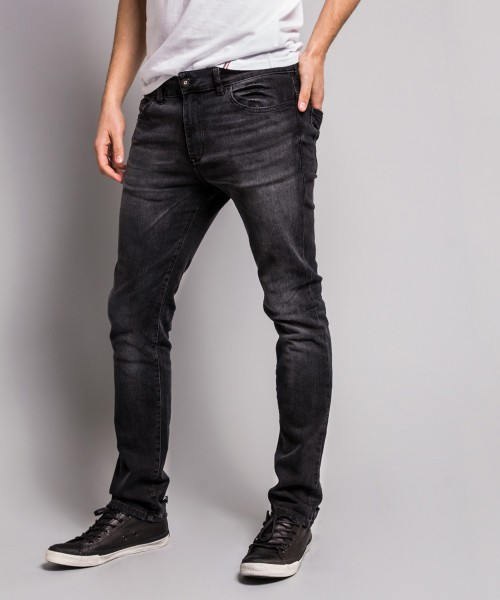 SLIM JEANS TYLER BLACK STEEL