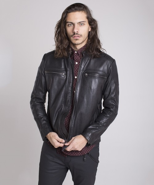 LEATHER JACKET WEST PLAIN II
