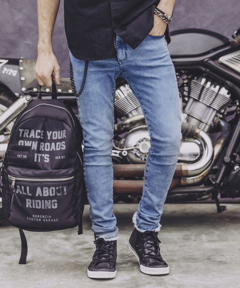 SUPER SKINNY JEANS HELL CROPPED BLUE