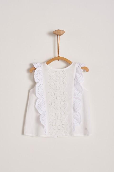 Blusa blanca Alicia