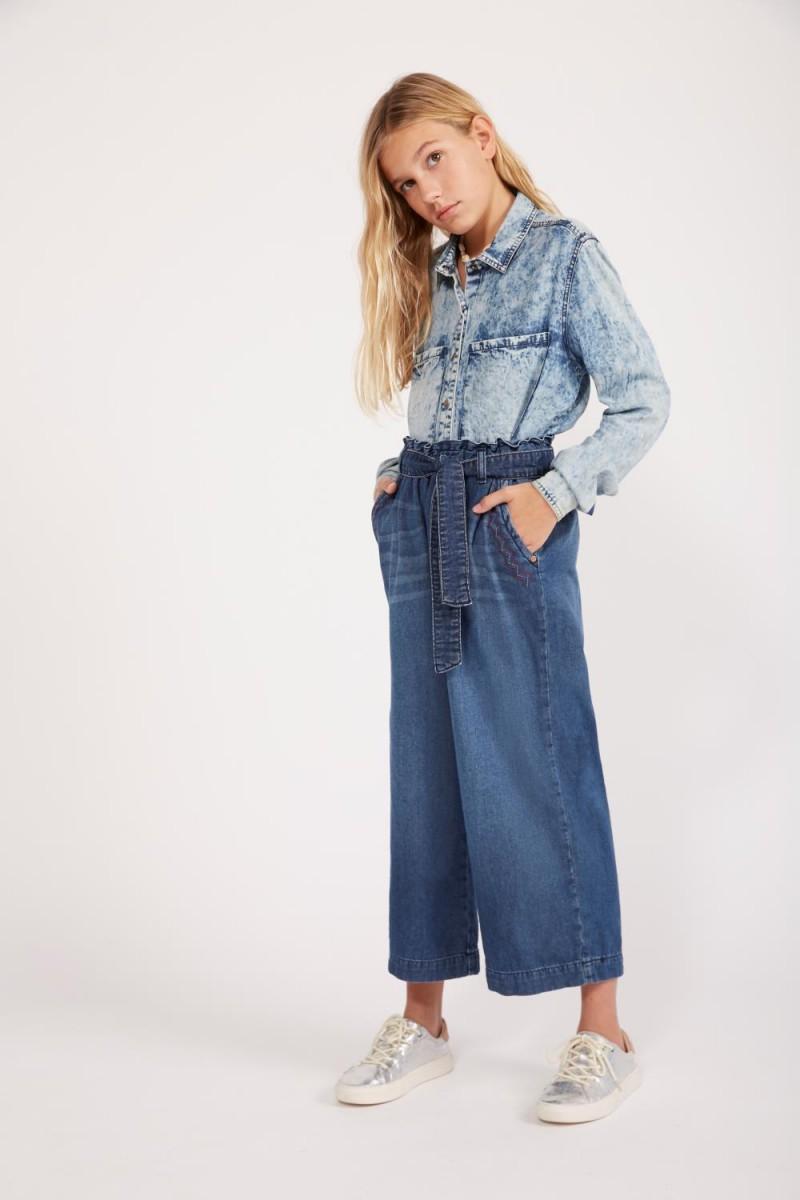 Pantalon Ancho Denim Girls