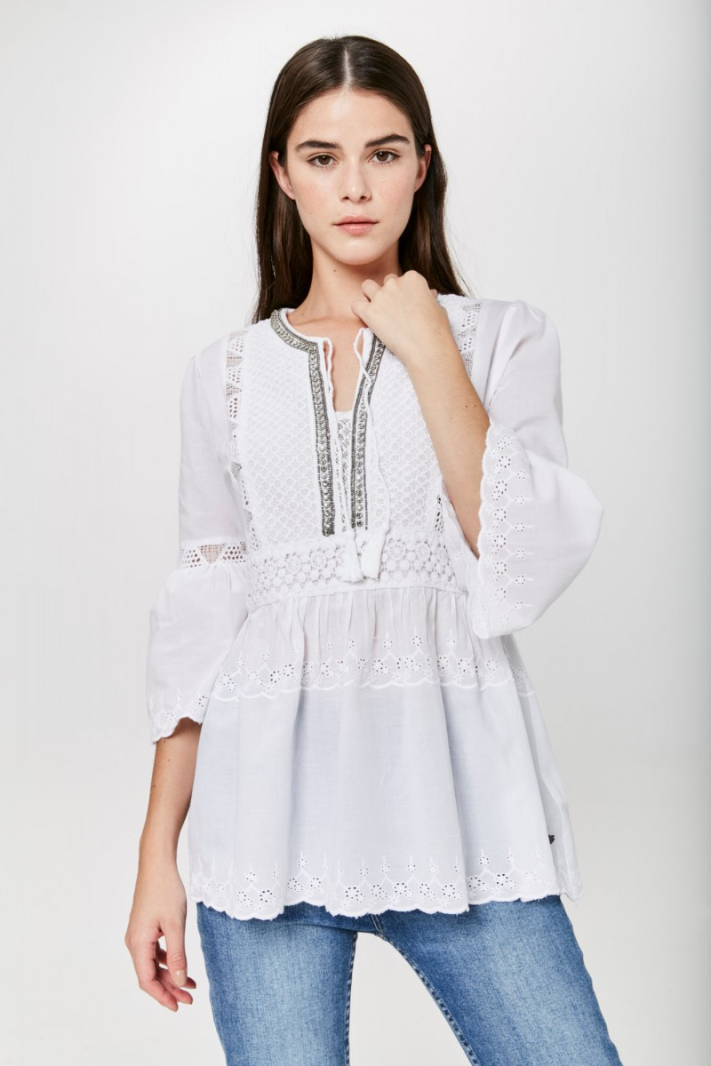 Camisa Grace Lace
