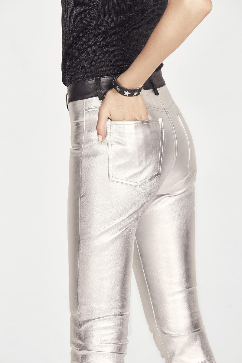 Pantalón Flare Cuero