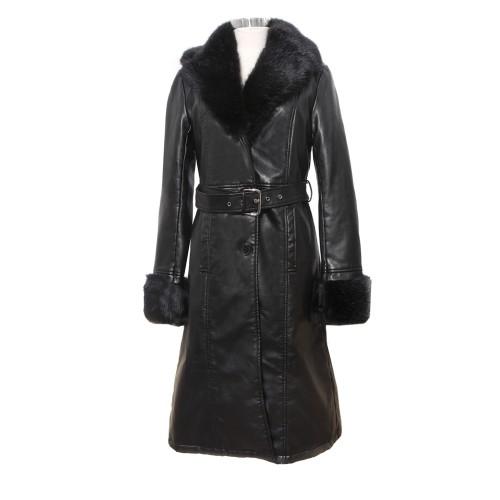 Tapado de abrigo con piel