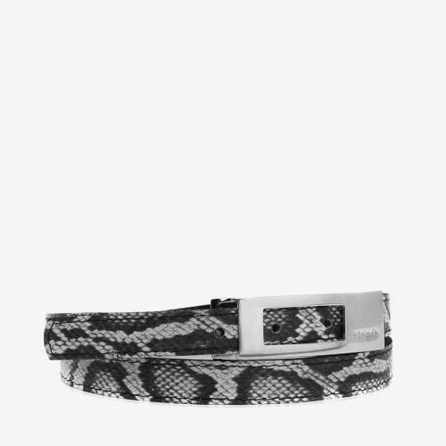 Cinturon Zurich serpiente blanco