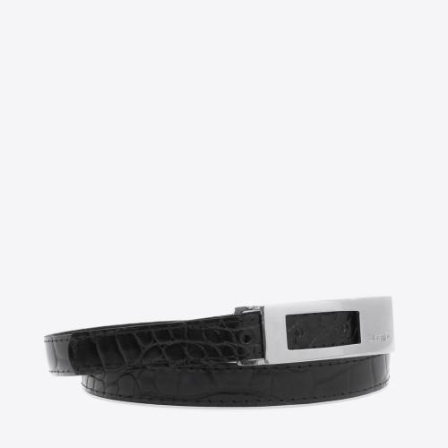 Cinturon Zurich croco negro