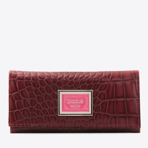 Billetera Jane croco bordo
