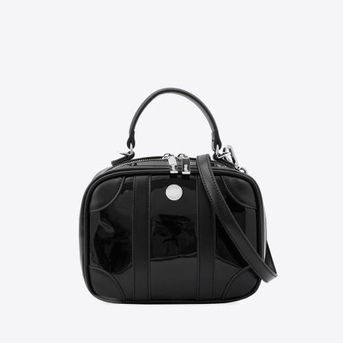 Mini Bag Liz charol negro combinado