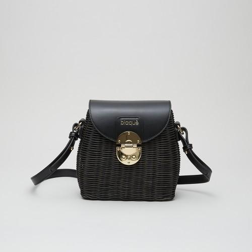 Mini Bag Bennet mimbre negro