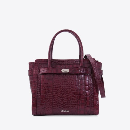 Cartera Aniston croco bordo