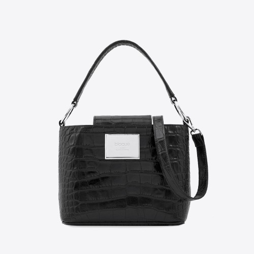 Mini Bag Berenice croco negro