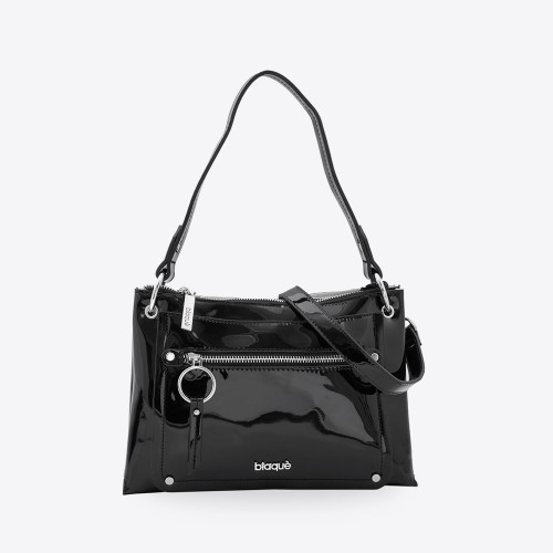 Mini Bag Caroline charol negro