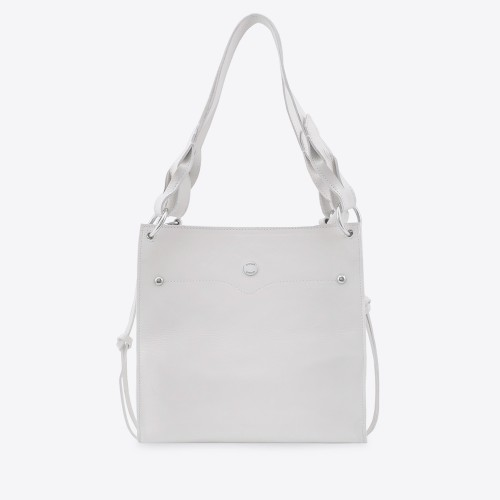 Cartera Connie charol off white