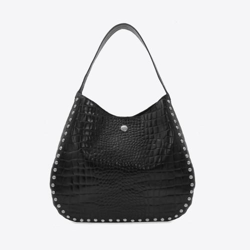 Gondola Penelope croco negro