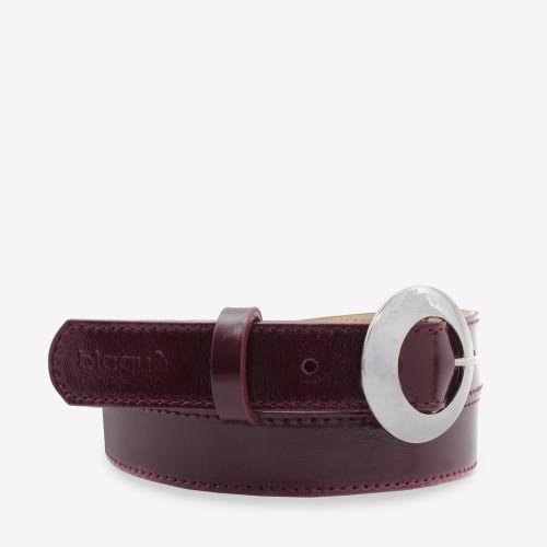 Cinturon Dublin charol bordo