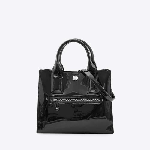 Mini Bag Selena charol negro