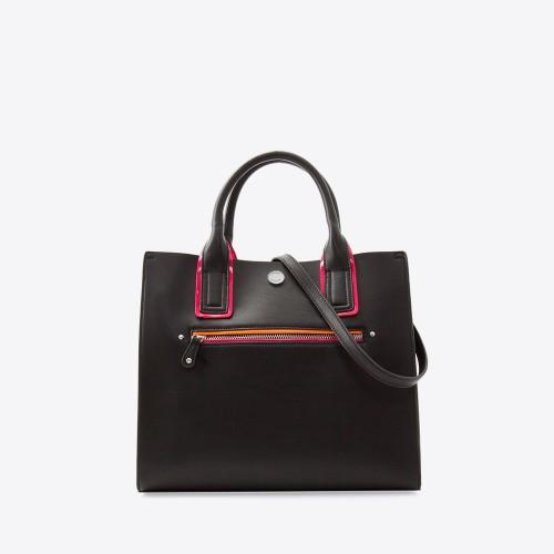Mini Bag Selena negro/fucsia/naranja