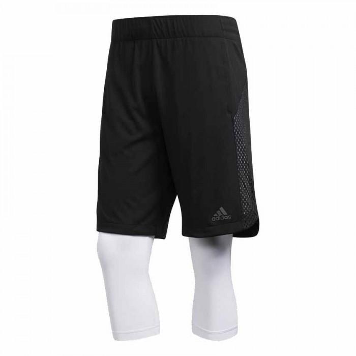 Short Adidas dos en uno Basket Neg/BCo Hombre Deporfan