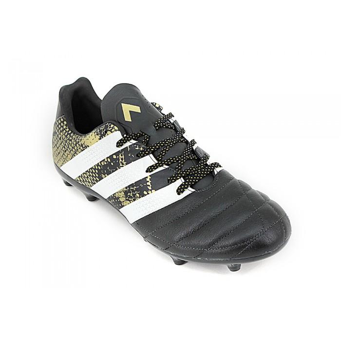 5217bfa93819d Botin Adidas ACE 16.3 Fijo Cuero Negro Dorado - Zapatillas - E-Shop