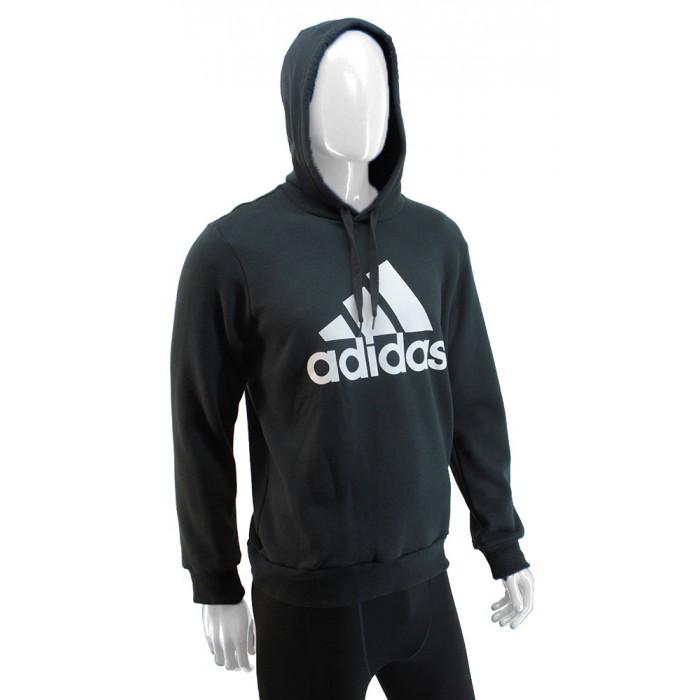 Buzo con Capucha con Logo Adidas Negro Hombre