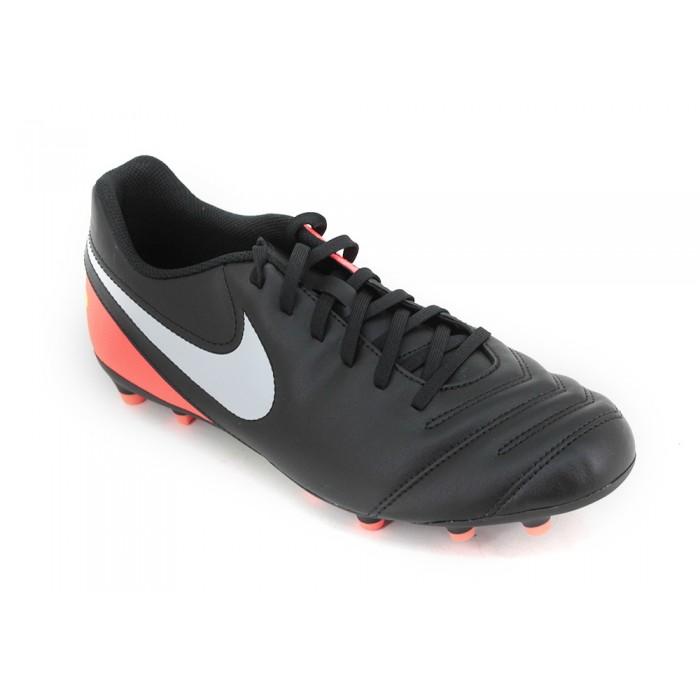 Botines Nike Tiempo Rio 3 Fijo Negro Rojo Bco Hombre