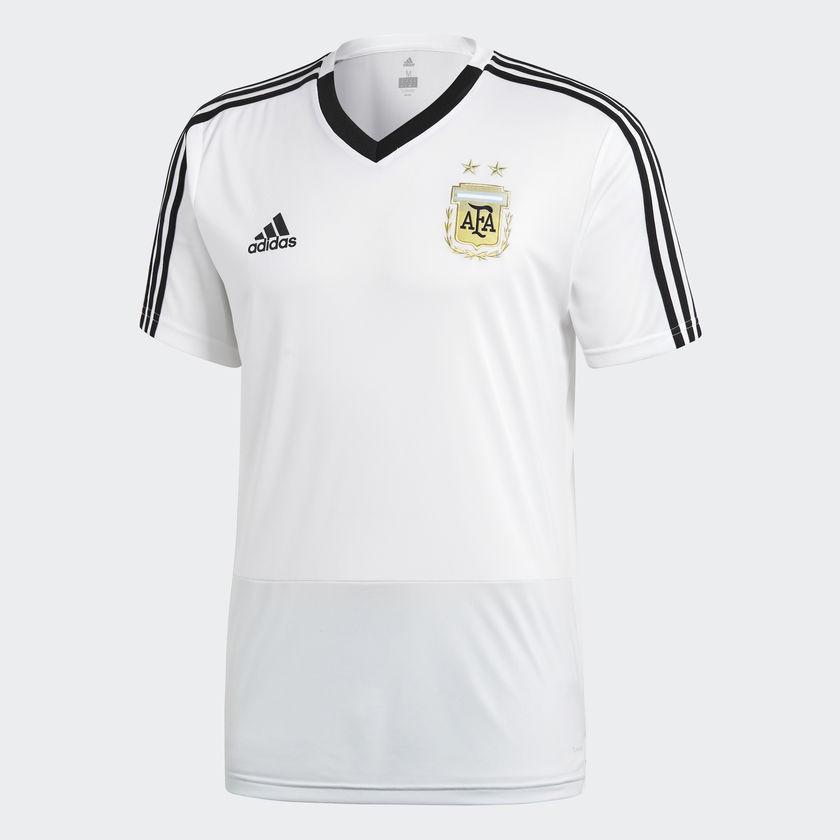 Camiseta Adidas Argentina Entrenamiento Bco Hombre Deporfan ... f04db65fd4a7a