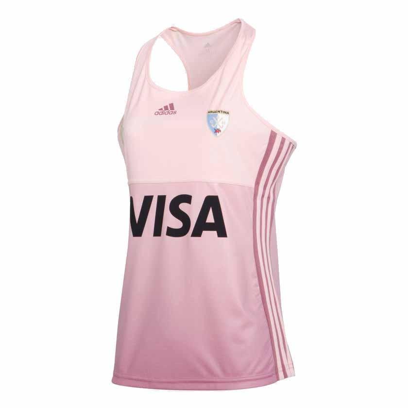 93bc6457d Camiseta Adidas Leonas Visitantes Musculosa Rosa Dama Deporfan ...