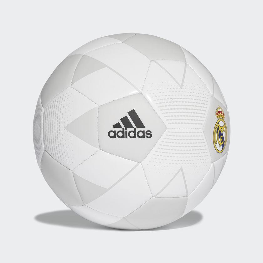 Pelota Adidas Real Madrid Nro 5 Blanco Gris Deporfane - Accesorios - E-Shop 9d97b1bac3ba2