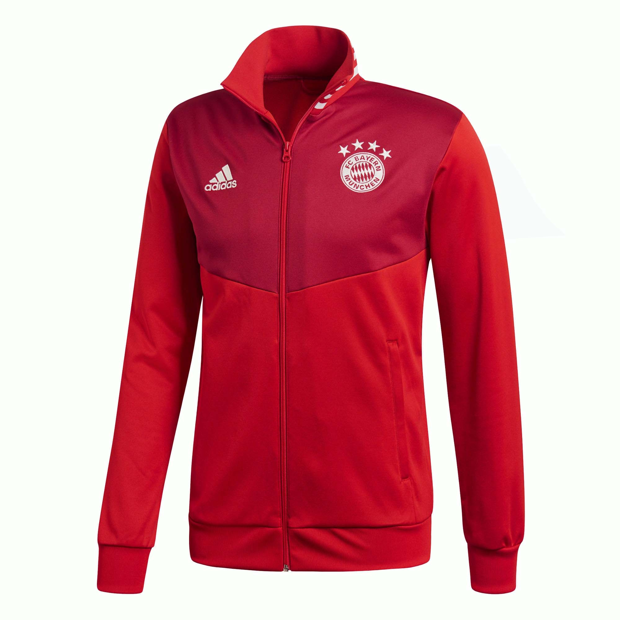 ee289855b Campera Adidas FC Bayern Munich 3 tiras rojo/Blanco Hombre Deporfan ...