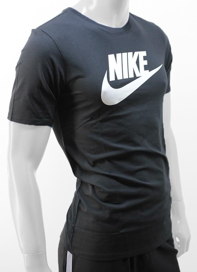 75c5264cdd039 Remera Algodón Nike Negra Blanco Hombre - Indumentaria - Hombres - E ...