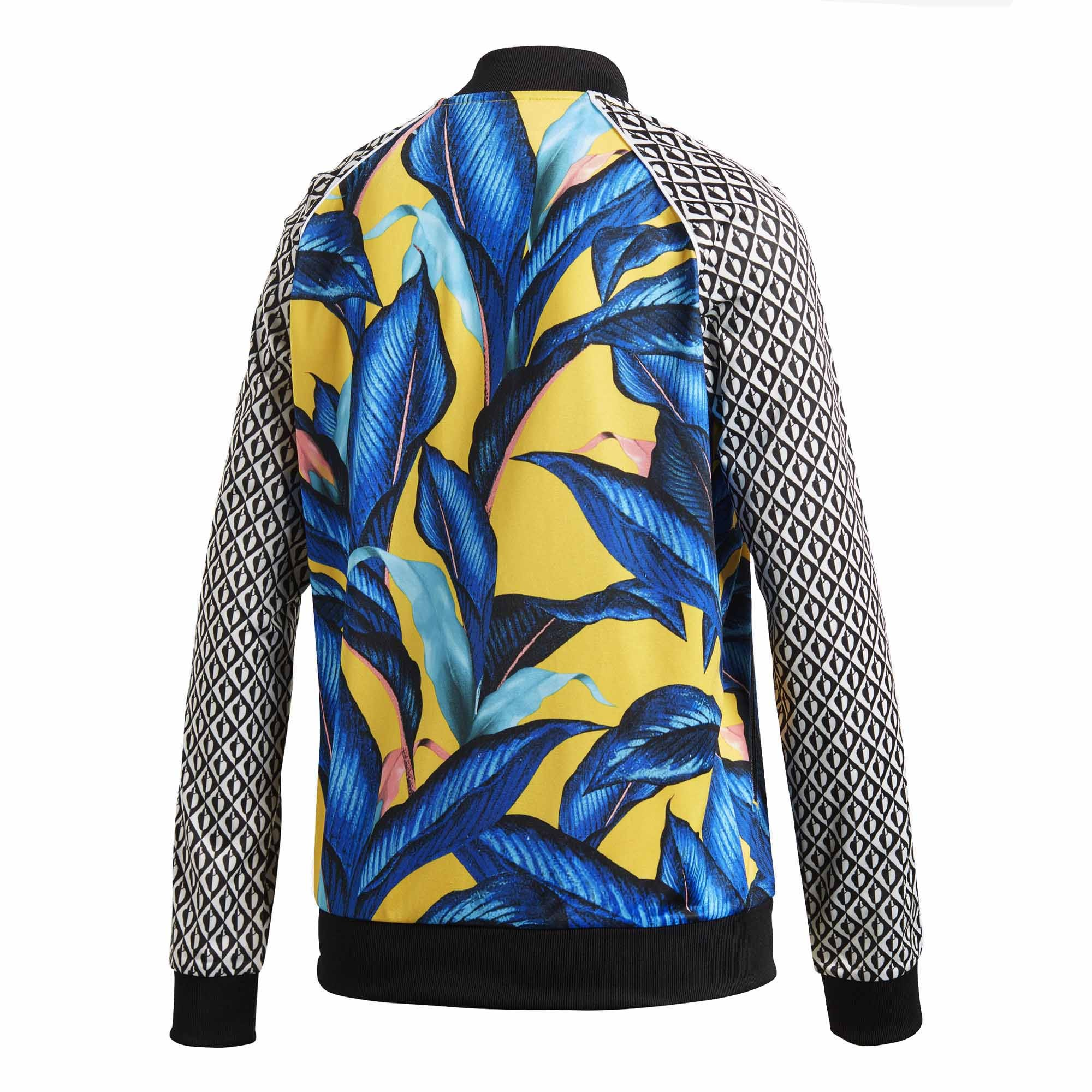 62936d23c9 Campera Adidas Originals Estampada Negro/Azul/Amarillo Dama Deporfan -  Indumentaria - Mujeres - E-Shop