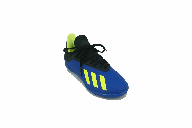 new arrival b60e2 b8b1f Botin Adidas X Tango 18.3 Turf Papi Azul Negro Niño Deporfan ...
