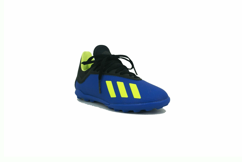 new arrival 9b5b8 c7cb9 Botin Adidas X Tango 18.3 Turf Papi Azul Negro Niño Deporfan ...