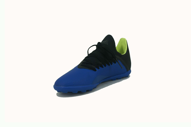 new arrival 8e1ce e75dc Botin Adidas X Tango 18.3 Turf Papi Azul Negro Niño Deporfan ...