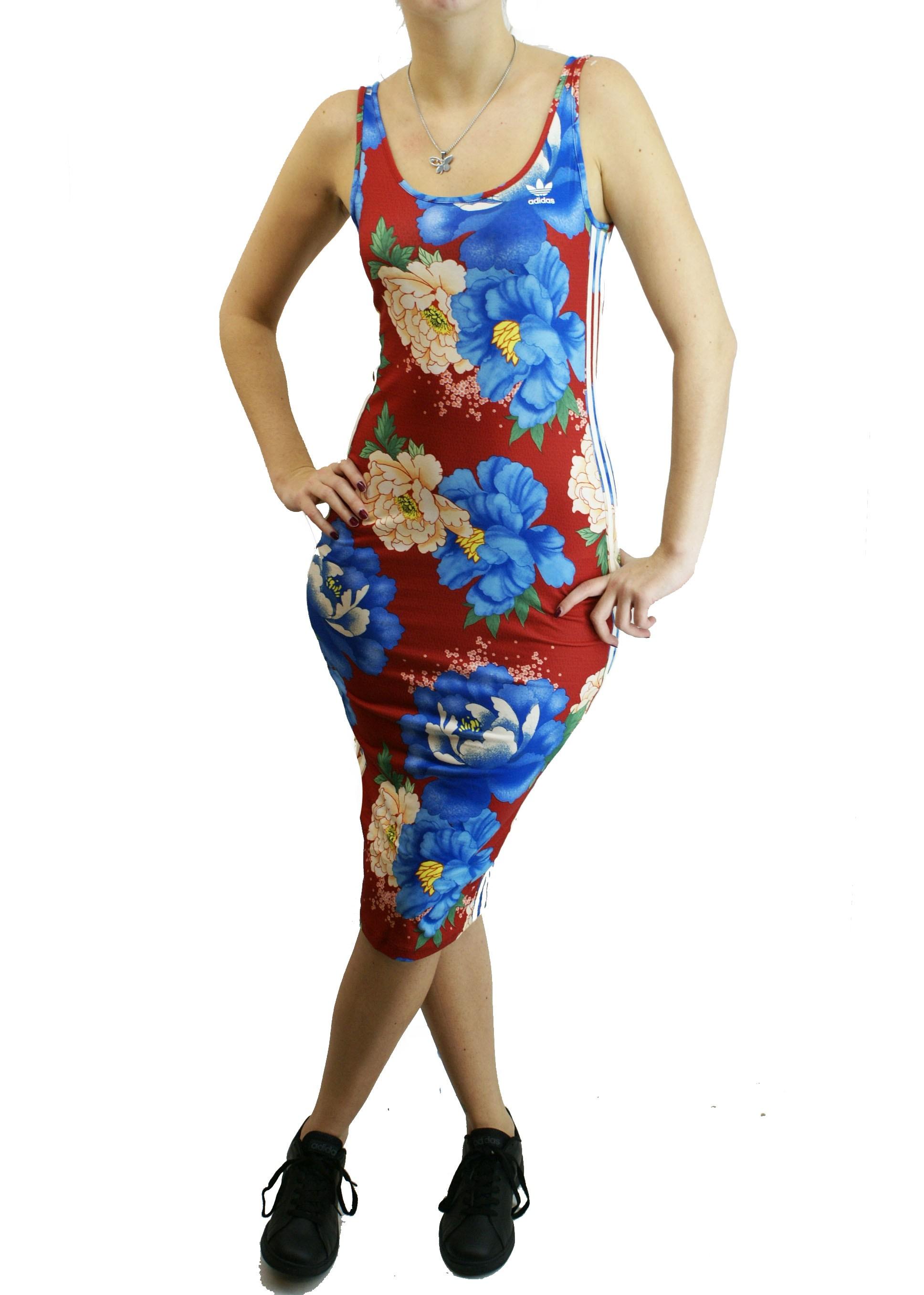 Carteles Antibióticos Permanecer  Vestido Adidas Originals Flores Rjo/cte Dama Deporfan - Indumentaria -  Mujeres - E-Shop