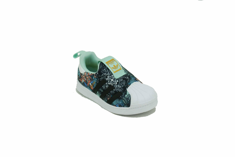 e41fd0614c7 Zapatilla Adidas Original Superstar 360 Estampada Aqua Negro Bebe ...