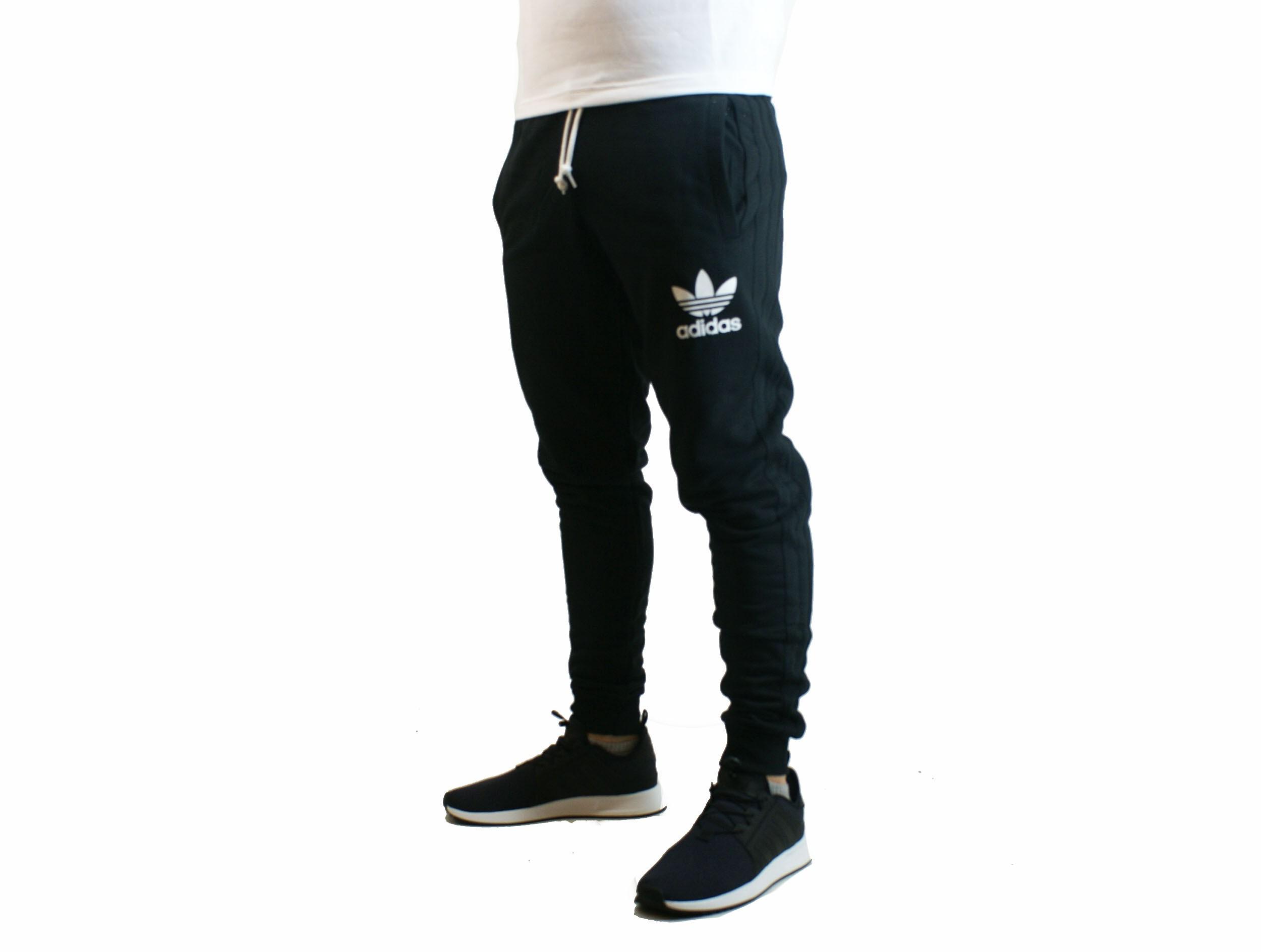 Pantalon Adidas Ori Deporfan Hombre Algodon Negroblanco xdCQrtsh