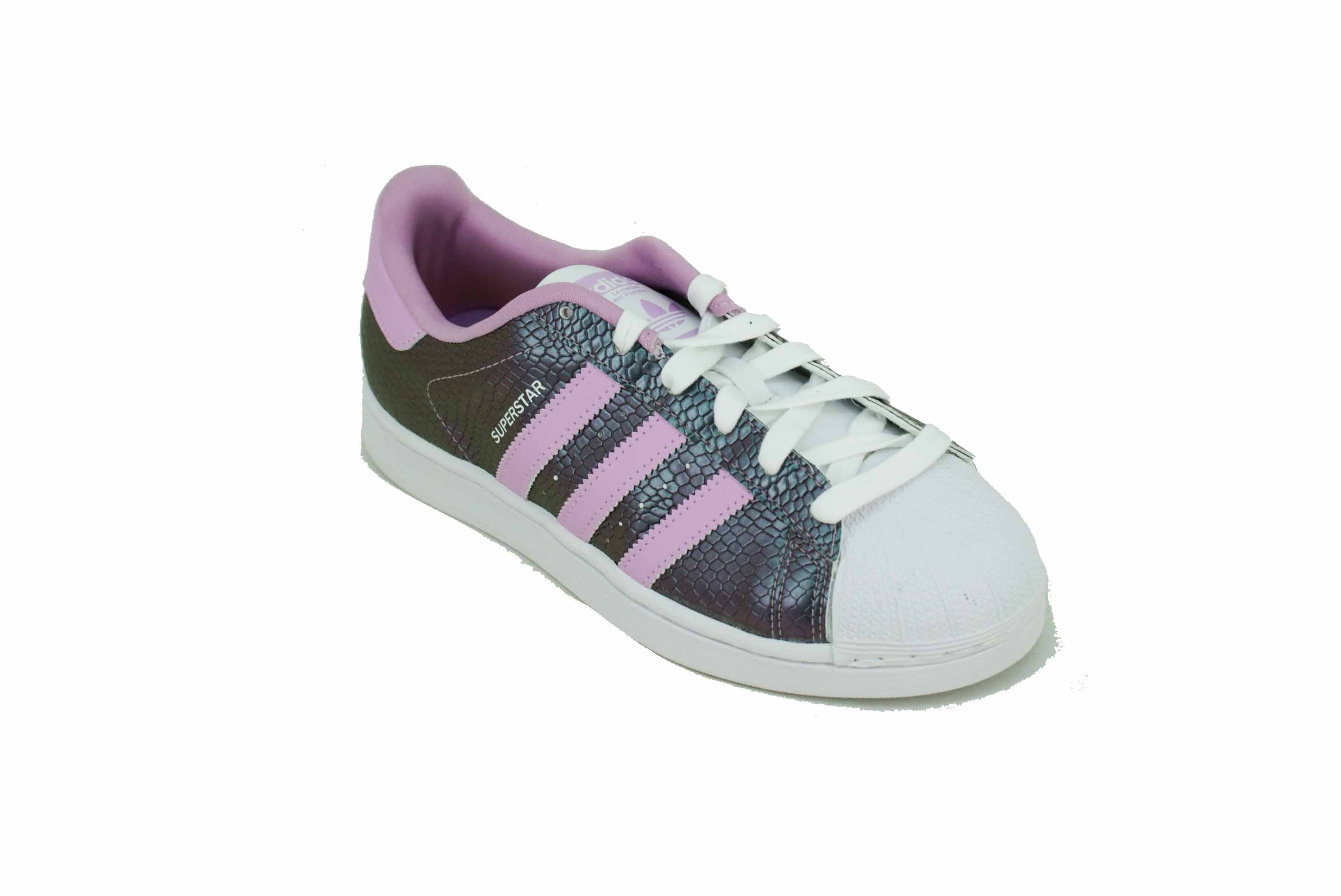 Zapatilla Adidas Originals Superstar Metalizado Lila Niña