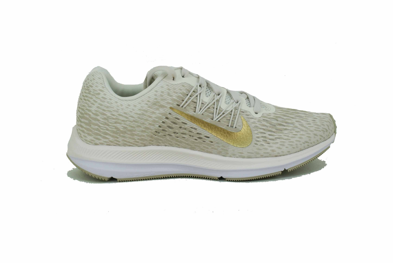 2646cfb00e3 Zapatilla Nike Zoom Winflo 5 Beige Dorado Dama Deporfan - Zapatillas ...