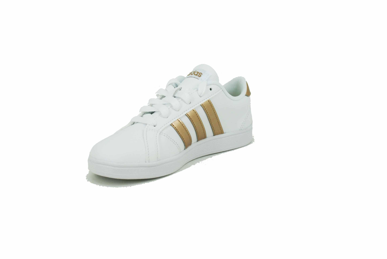 7aef673e7 Zapatilla Adidas Baseline Blanco-dorado Niña Deporfan - Zapatillas ...