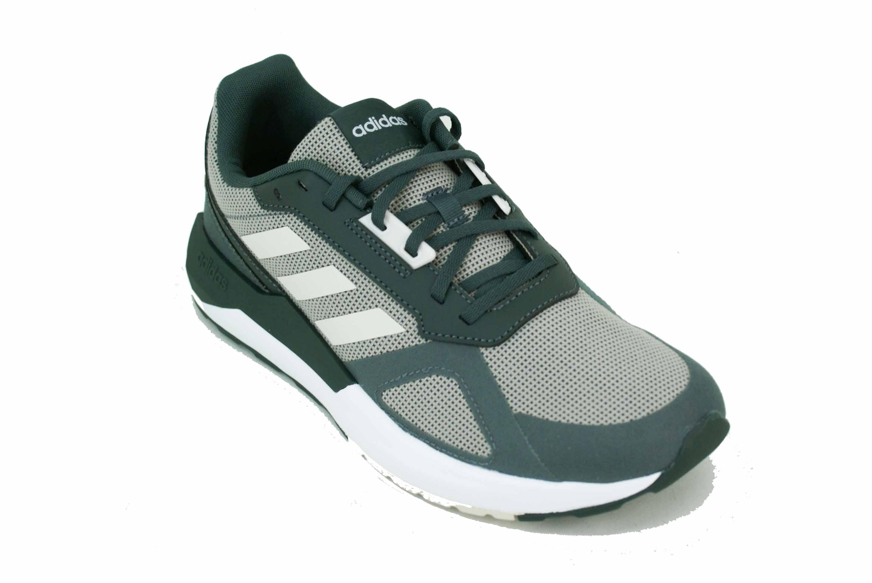 6ab9dd1268 Zapatilla Adidas Run 80S Gris/Verde/Blanco Hombre Deporfan ...