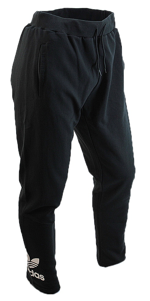 Pantalon Chupin Adidas Originals Algodon Negro Hombre Hombre E Shop