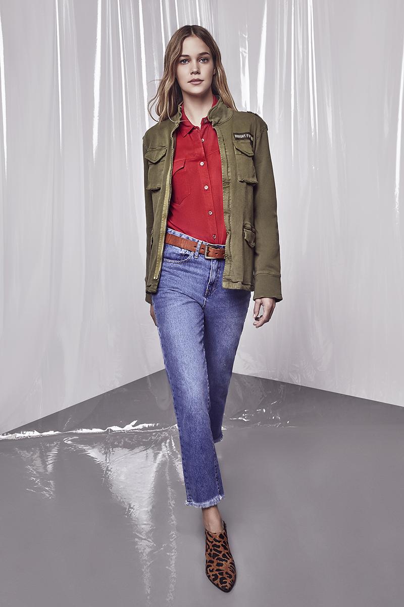 Camisaco Malibu. Jeans Boyfit Malibu. Cinto Wacco. Zueco Zurik.