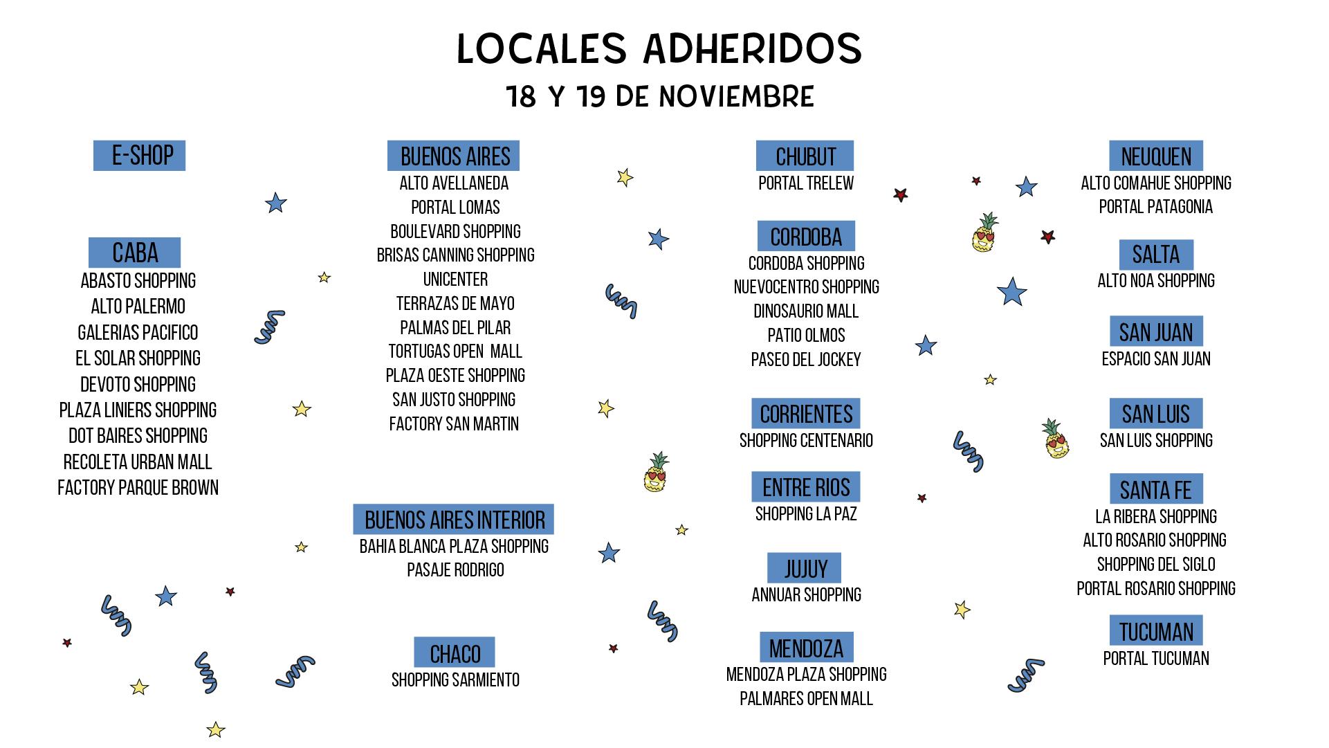 Locales Adheridos 2x1