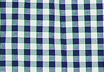 Dress Blue - White Plaid